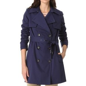 Vince Navy blue trench coat size medium
